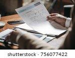 hands of unrecognisable...   Shutterstock . vector #756077422