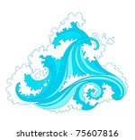 abstract background with... | Shutterstock .eps vector #75607816