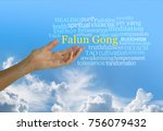 falun gong  a chinese system of ... | Shutterstock . vector #756079432