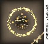 festive merry christmas... | Shutterstock .eps vector #756080326