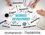business development concept.... | Shutterstock . vector #756080506