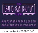 vector of modern stylized font... | Shutterstock .eps vector #756081346