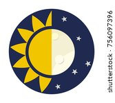 day and night icon   Shutterstock .eps vector #756097396