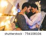 passionate romantic couple...   Shutterstock . vector #756108106