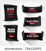 black friday sale on parchment... | Shutterstock .eps vector #756120592