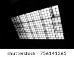 view from below the transparent ... | Shutterstock . vector #756141265