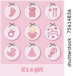 Set Of Baby Girl Objects....