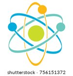 atom vector icon | Shutterstock .eps vector #756151372