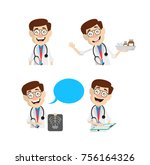 comic doctor various concepts... | Shutterstock .eps vector #756164326