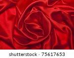 Stock photo sensuous smooth red satin 75617653