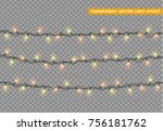 garlands color yellow and... | Shutterstock .eps vector #756181762