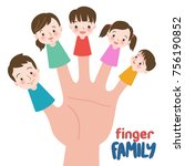 family finger puppets. parents... | Shutterstock .eps vector #756190852