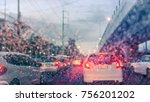 driving car on the road in... | Shutterstock . vector #756201202