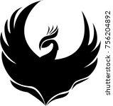phoenix logo in vector | Shutterstock .eps vector #756204892