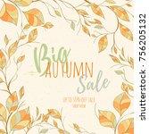 autumn hand drawn vector... | Shutterstock .eps vector #756205132