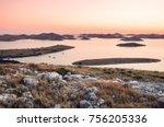 view over the kornati national... | Shutterstock . vector #756205336