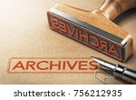 3d illustration of rubber stamp ... | Shutterstock . vector #756212935