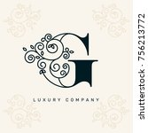 vector graphic elegant logotype ...   Shutterstock .eps vector #756213772