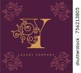 vector graphic elegant logotype ...   Shutterstock .eps vector #756213805