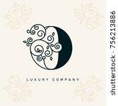 vector graphic elegant logotype ... | Shutterstock .eps vector #756213886