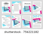 abstract vector layout... | Shutterstock .eps vector #756221182