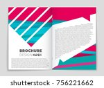 abstract vector layout... | Shutterstock .eps vector #756221662