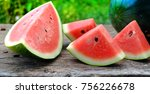 watermelon slices  themes | Shutterstock . vector #756226678