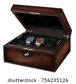 luxury leather watch box  gift  ...   Shutterstock . vector #756235126