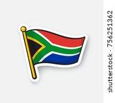 vector illustration. flag of... | Shutterstock .eps vector #756251362