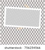 photo frame with sticky tape on ... | Shutterstock .eps vector #756254566