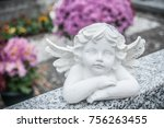 Closeup Of Stoned Angel At...