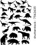 dinosaur   Shutterstock .eps vector #7562635