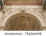 detail of arc de triomphe paris | Shutterstock . vector #756266248