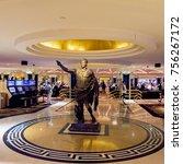 Small photo of LAS VEGAS, USA - SEP 21, 2017: Julius Caesar statue at the Caesars Palace, a AAA Four Diamond luxury hotel and casino, Las Vegas Strip, Paradise, Nevada, United States.