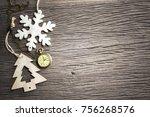 merry christmas or xmas... | Shutterstock . vector #756268576
