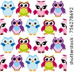 vector illustration of colorful ... | Shutterstock .eps vector #756278692