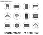 symbolic furniture | Shutterstock .eps vector #756281752