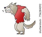 angry werewolf cartoon | Shutterstock .eps vector #756284092