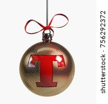 Golden Christmas Ball Font Wit...