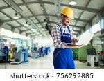 modern industrial machine... | Shutterstock . vector #756292885