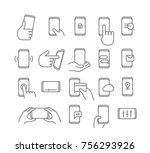 modern smartphones vector icons.... | Shutterstock .eps vector #756293926