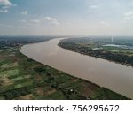 the aerial top view of the... | Shutterstock . vector #756295672