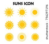 suns icon collection | Shutterstock .eps vector #756297196