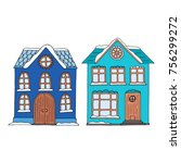 Cute Small Colorful Houses Wit...