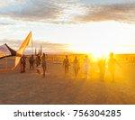People Walking Towards Sunset...