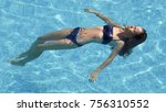 young beautiful woman relaxing... | Shutterstock . vector #756310552