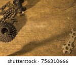 bike gear on wooden table | Shutterstock . vector #756310666