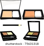 eyeshadow with decorative sprig.... | Shutterstock .eps vector #75631318