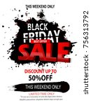 black friday cyber monday | Shutterstock .eps vector #756313792
