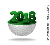 numbers of 2018 textured with... | Shutterstock .eps vector #756322348